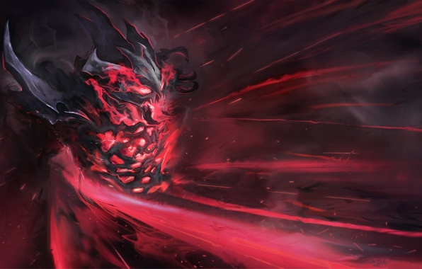 Picture the demon, art, Dota 2, Shadow Fiend, Nevermore