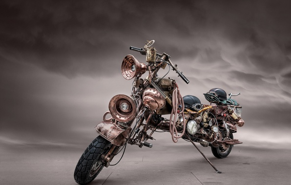 Picture motorcycle, steampunk, bike