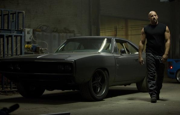 Picture car, black, actor, black, Dodge, dodge, muscle, charger, 1970, fast five, vin diesel, VIN diesel, …