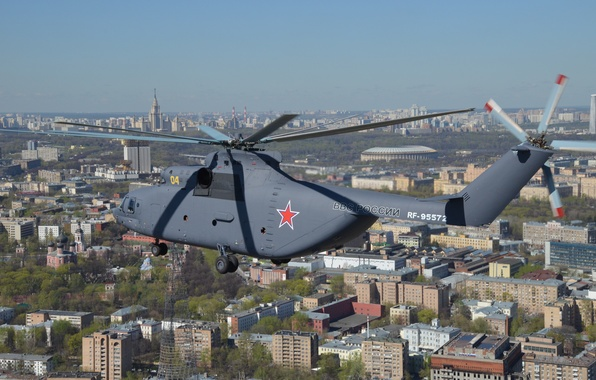 Picture Tower, The city, View, Moscow, Top, City, Skyscraper, Flight, Flight, Moscow, Helicopter, Helicopter, Mi-26, View, …