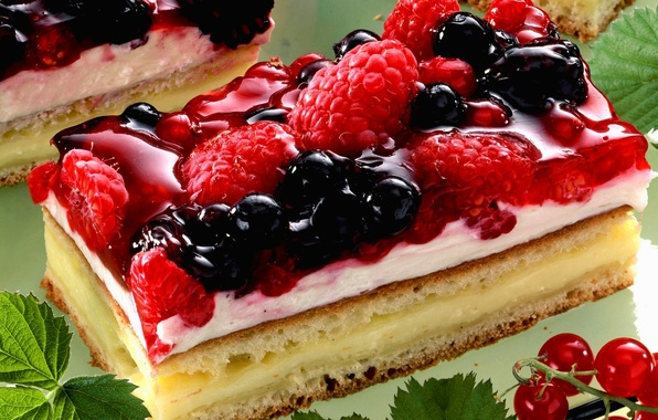 Picture raspberry, food, cake, cake, cake, cream, dessert, food, BlackBerry, sweet, cream, dessert, blackberry, red currant, ...