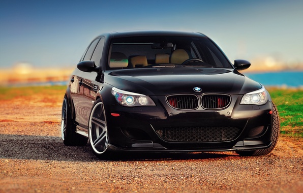Picture BMW, black, front, E60