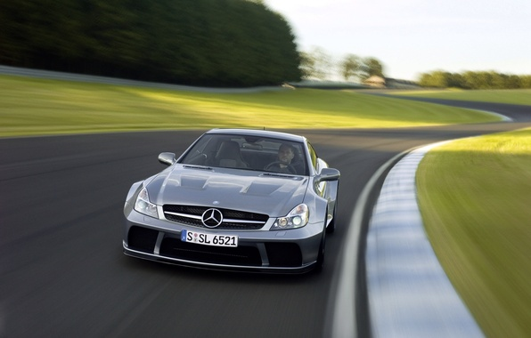 Picture car, machine, track, Mercedes, AMG, the front, track, Black Series, SL 65