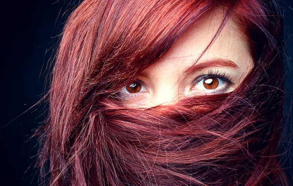 Picture eyes, look, girl, face, hair