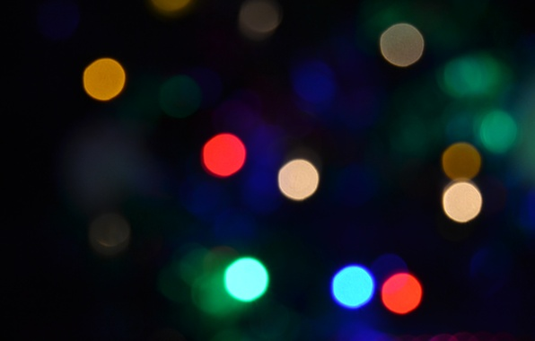Picture light, circles, background, color