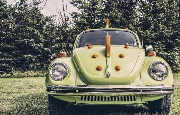 Picture machine, retro, beetle, car, oldschool, old school, volkswagen beetle, green dragon