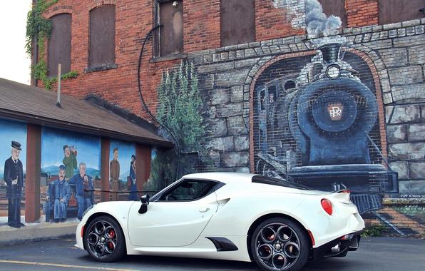 Picture wall, figure, the engine, Alfa Romeo, Alfa Romeo 4C