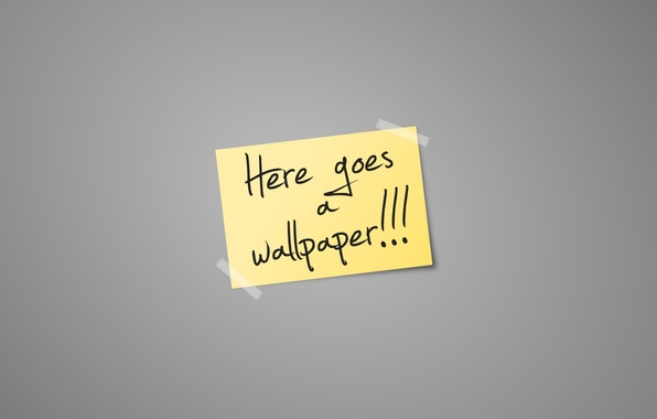 Picture paper, the inscription, minimalism, sticker, words, minimalism, words, 1920x1080, lettering, paper, here goes a wallpaper, …
