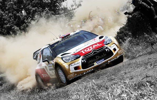 Picture Auto, Dust, Sport, Machine, Citroen, Skid, Day, Citroen, DS3, WRC, Rally, Rally