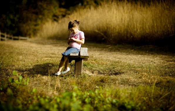 Picture mood, girl, bench