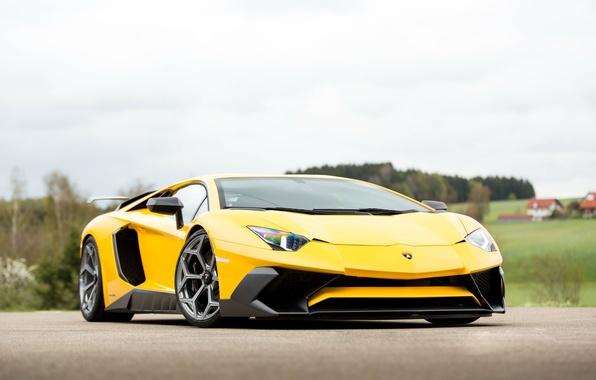 Picture car, auto, Lamborghini, yellow, tuning, Aventador, Lamborghini, Novitec Torado, LP 750-4