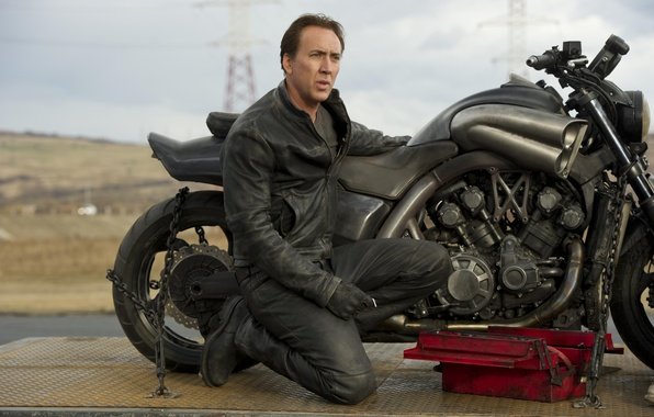 Picture motorcycle, Nicolas Cage, Nicolas Cage, Ghost rider 2, Yamaha V max, Ghost-Rider-Spirit-of-Vengeance