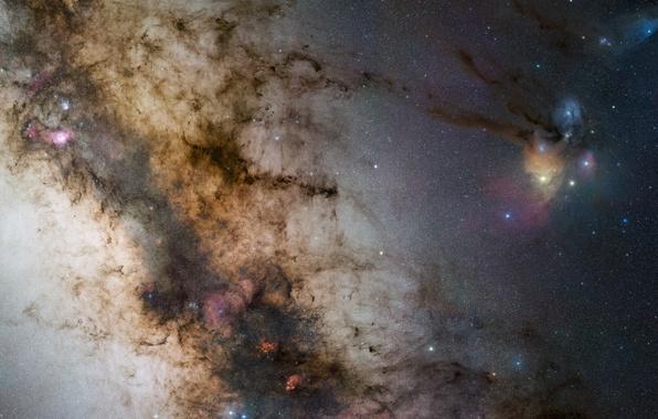 Picture stars, The milky way, galaxy, stars, Milky Way, galaxy, NGC 6334, NGC 6357