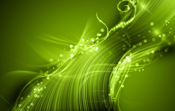 Picture light, abstraction, green