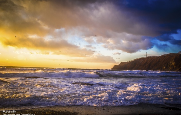 Picture sunset, find, January, Primorye, impressive, the sea of Japan
