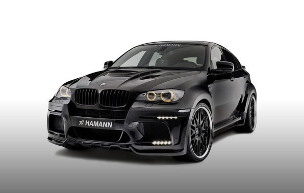 Picture BMW, BMW, white background, Hamann, X6 M, E71