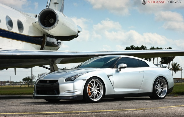 Picture nissan, gtr, Forged, Strasse