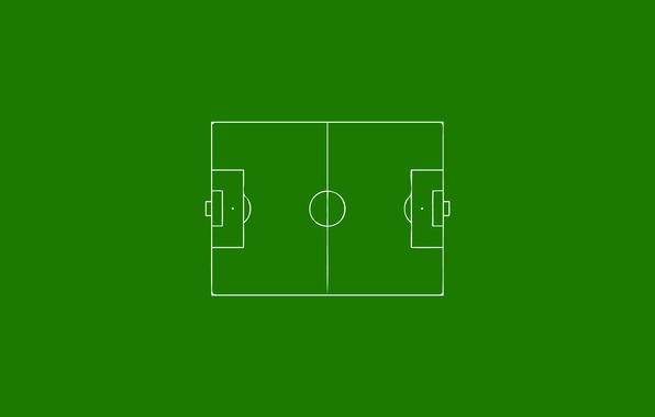Picture football, green background, stadium, stadium, football, football field, minimalism., green background, soccer field, OLE-OLE-OLE-OLE