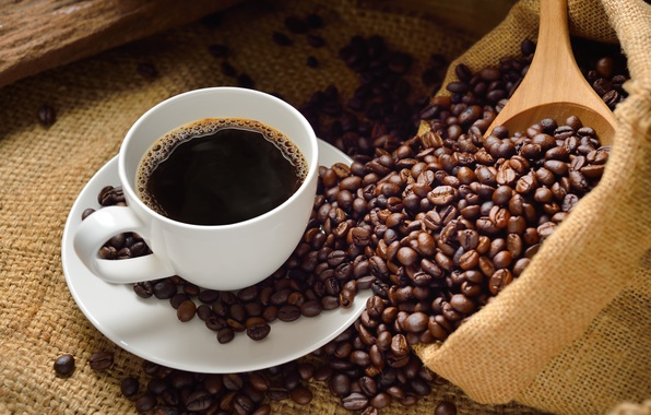 Picture cup, drink, coffee, coffee beans