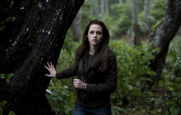 Picture forest, movie, actress, Kristen Stewart, twilight