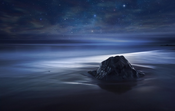 Picture the sky, stars, the ocean