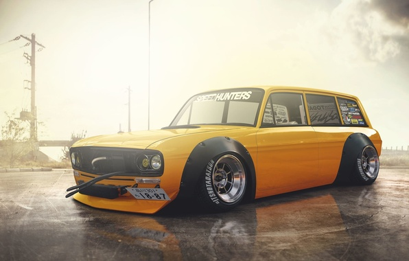 Picture Audi, Car, Yellow, Stance, Low, Variant, Hugo Silva, F103