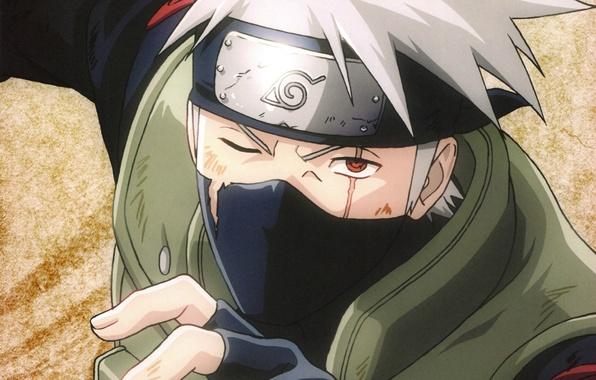 Picture hand, headband, Naruto, scar, sharingan, ninja, sensei, Kakashi Hatake