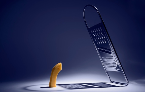 Picture shadow, cheese, grater