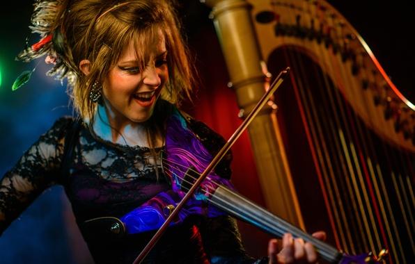 Picture violin, harp, violin, Lindsey Stirling, Lindsey Stirling