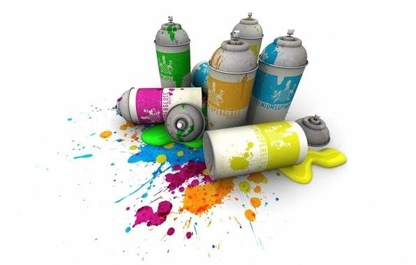 Picture paint, color, Sprays
