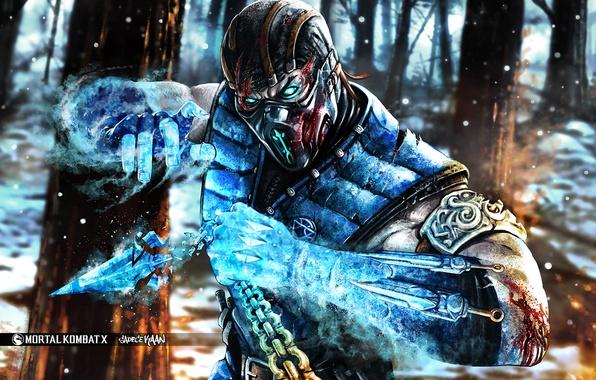 Picture art, Sub-Zero, fighting, MortaL Kombat X