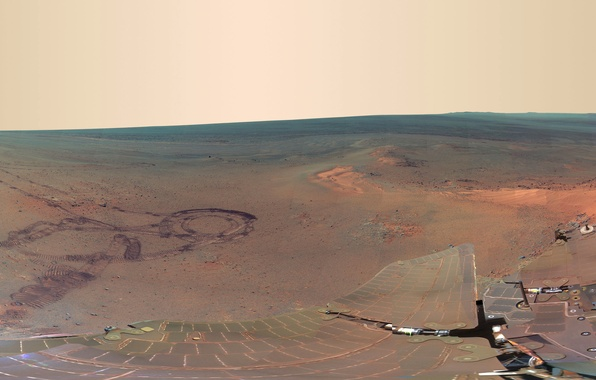 Picture mountain, panorama, Mars, Opportunity, the Rover, Grilis Haven