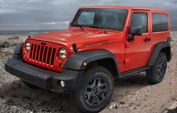 Picture red, Jeep, the front, Wrangler, Ringler, Jeep, Moab