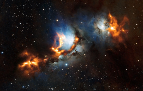 Picture nebula, constellation, Orion, Messier 78