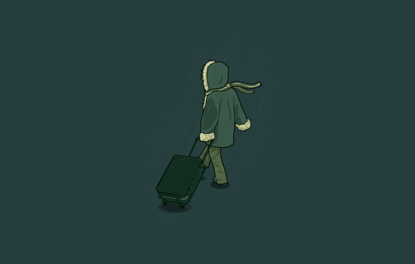 Picture vector, scarf, suitcase, coat, j3concepts, The Operation, leaving