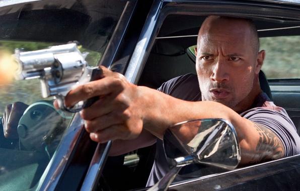 Picture machine, look, rock, gun, man, actor, actor, wrestler, Dwayne Johnson, The Rock, Faster, Dwayne Johnson, …