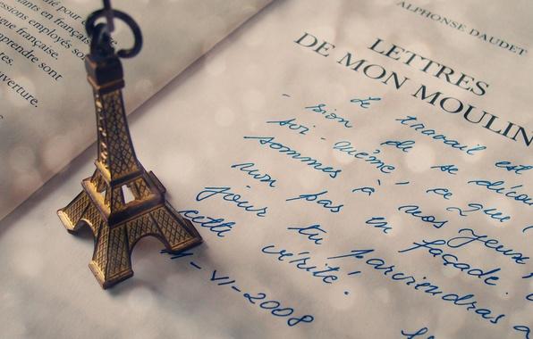 Picture language, letter, the inscription, Eiffel tower, Paris, handle, figurine, France, country, eiffel, handwriting