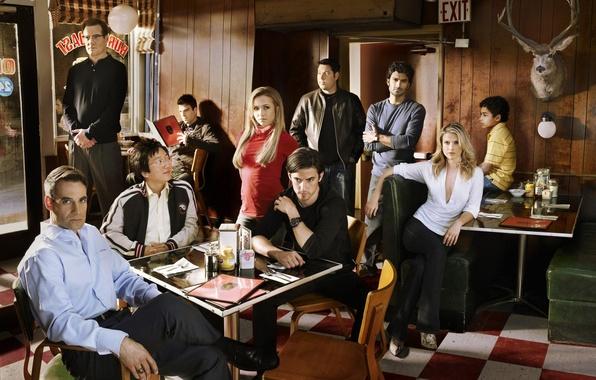 Picture Heroes, cafe, heroes, Hayden Panettiere, Hiro Nakamura, Claire Bennet