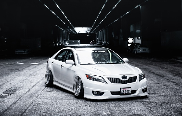 Picture tuning, white, white, toyota, Toyota, camry, Camry, stance