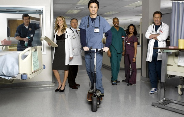 Picture the series, Scrubs, clinic
