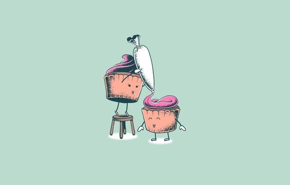 Picture Minimalism, Humor, Art, Cupcakes