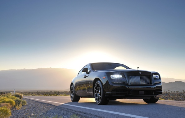 Picture road, car, machine, Rolls-Royce, road, the front, Wraith, Black Badge