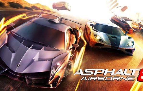 Picture the game, race, game, race, iOS, Lamborghini Veneno, Koenigsegg Agera R, for android, Asphalt 8 …