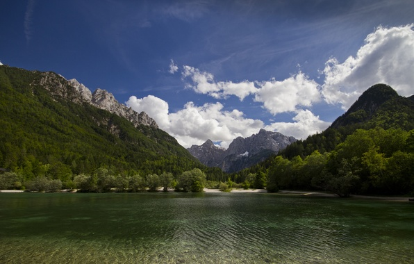 Picture mountains, nature, lake, Slovenia, Slovenia, Kranjska Gora, Lake Jasna, Kranjska Gora