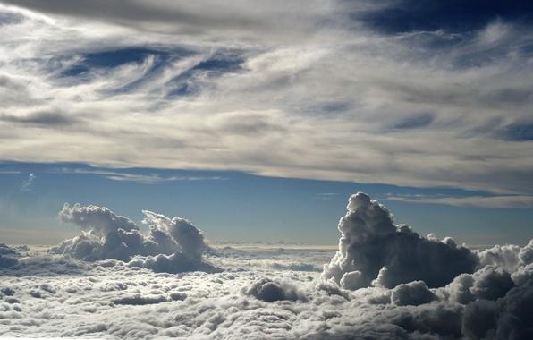 Picture the sky, clouds, landscape, heaven