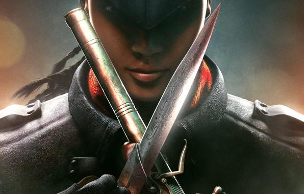 Picture look, girl, killer, blade, assassin, pistol, partner, Avelina De Granpre, Ubisoft Entertainment, Assassin's creed: Liberation, …