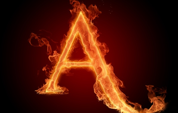 Picture fire, flame, Wallpaper, letter, Litera