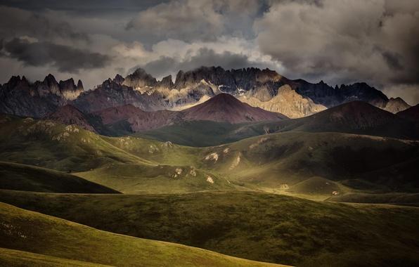 Picture landscape, mountains, clouds, nature, mountain range