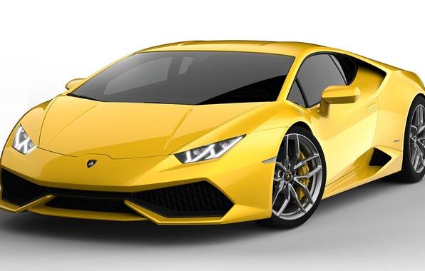 Picture Yellow, Lamborghini, Lamborghini, Supercar, Yellow, Supercar, LP 610-4, Huracan, Huracan