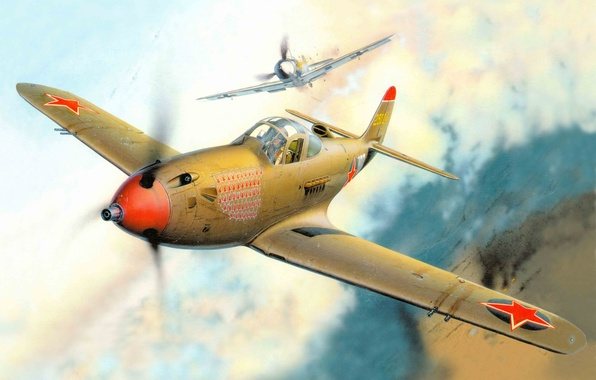 Picture the plane, fighter, USA, USSR, such, as, BBC, was, bell, WW2, airacobra, it, Alexander Pokryshkin, …